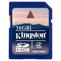 KINGSTON Memorie 16GB Secure Digital, SDHC, Clasa 4 SD4/16GB