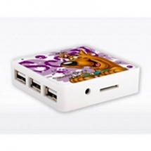 Modecom External Card Reader and USB Hub Scooby Doo Spooky Combo MC-SPOOKCMB