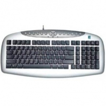 A4Tech KBS-21, ANTI-RSI Keyboard PS/2 (Silver/Black) (US layout) KBS-21