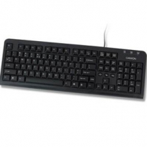 Keyboard CANYON PS/2 English United States Black, Retail, 1pk CNR-KEYB5B-US