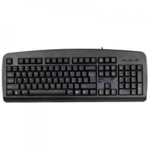 A4Tech KBS-8, ANTI-RSI Keyboard PS/2 Big Enter Key (Black) (US layout) KBS-8