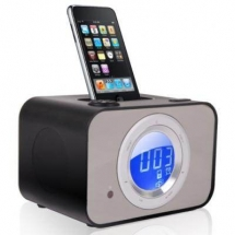 PRESTIGIO Docking Speakers, Plastic for iPod, Black, Retail (10.7x9.2cm) PIS4