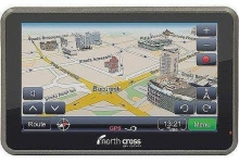 "GPS North Cross ES550 HD, Touch Screen 5.0"" 800x480, 128MB + 4GB, Win CE 6."