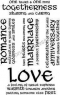 Stampile transparente Love Text