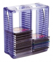 Suport vertical stocare 40 CD/DVD cu carcasa jewel STEY