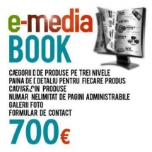 Platforma web design catalog virtual E-Media BOOK