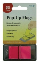 Film index autoadeziv 45 x 25 mm, 50 buc/set, HOPAX Pop-up (cu dispenser) - magenta
