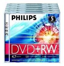 DVD+RW 4.7GB, Jewelcase, 4x, PHILIPS