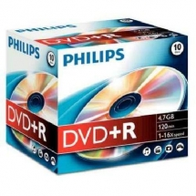 DVD+R 4.7GB Jewelcase, 16x, PHILIPS