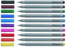 LINER 0.4MM MARO INCHIS GRIP FABER-CASTELL