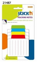 Tracking notes 70.2 x70.2 mm, 4x25 file liniate/set, Stick