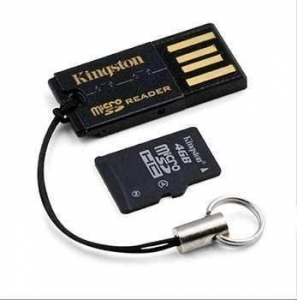 Kingston Micro SD 4GB cu Micro SD Reader