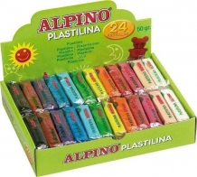 Display plastelina 24 x 50 gr./display, ALPINO