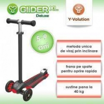 Trotineta Glider XL Deluxe - Red Black - Yvolution