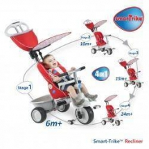 Tricicleta Recliner Stroller 4in1 Red - Smart Trike
