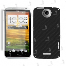HTC One X folie de protectie carcasa 3M carbon black (incl. folie display)