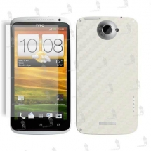 HTC One X folie de protectie carcasa 3M carbon white (incl. folie dispay)
