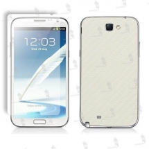 Samsung N7100 Galaxy Note 2 folie de protectie 3M carbon white (incl. folie display)