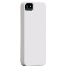 Husa Apple iPhone 5 Case Mate Barely There alba lucioasa