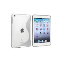Husa Apple iPad Mini silicon S-Line alb / transparent (TPU)
