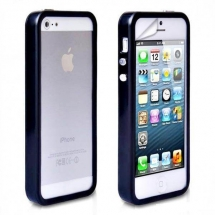 Bumper Apple iPhone 5 negru (TPU)