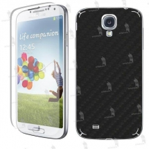 Samsung i9500 Galaxy S4 folie de protectie carcasa 3M carbon black (incl. folie display)