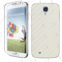 Samsung i9500 Galaxy S4 folie de protectie carcasa 3M carbon white (incl. folie display)