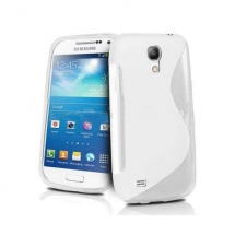 Husa Samsung i9190 Galaxy S4 Mini silicon S-Line alb / transparent (TPU)