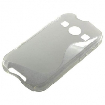 Husa Samsung S7710 Galaxy Xcover 2 silicon S-Line alb / transparent (TPU)