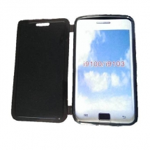 Husa Samsung i9100 Galaxy S2 silicon book style negru transparent