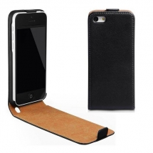 Husa Apple iPhone 5C flip style slim neagra