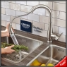 Baterie bucatarie Grohe cu dus extractabil