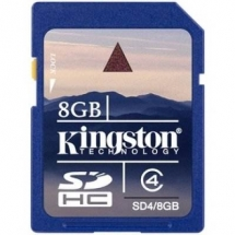 KINGSTON Memorie 8GB Secure Digital, SDHC, Clasa 4 SD4/8GB