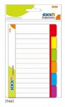 Divider notes autoadeziv liniat cu separator, 148.4 x 97,6 mm, 60 file, Stick