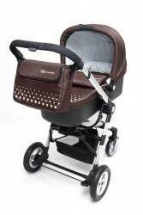 KinderKraft - Carucior 3 in 1 Kraft Purple / Brown