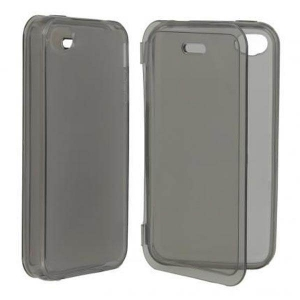 Husa Apple iPhone 4 / 4S silicon book style negru transparent