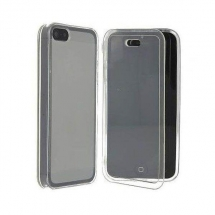 Husa Apple iPhone 5 silicon book style alb transparent